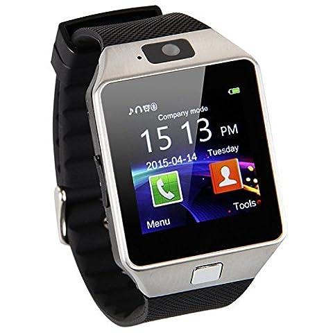 AmYin Bluetooth Android montre téléphone avec Camera D91 (Silver)