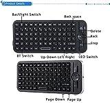 Mini Wireless Bluetooth QWERTY Tastatur mit Hintergrundbeleuchtung für iOS System