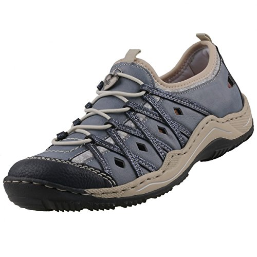 Rieker Damen L0559 Sneakers pazifik/adria/royal/silverflower / 14