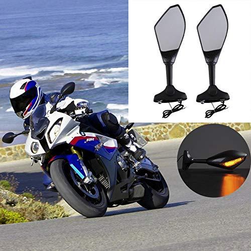 Katurn Espejos Laterales de Moto, 1 Par Retrovisor Motocicleta para Honda Kawasaki Yamaha Suzuki - Fibra de Carbono Modificados Retrovisores Moto Accesorios