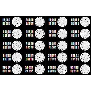 abestair wiederverwendbar Airbrush Nail Art Schablone 320Designs–Modell 20Blatt Kit Set 2