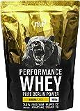 nu3 Performance Whey Protein - Mango Lassi Blend 1 kg Proteinpulver - Eiweißpulver mit guter Löslichkeit - 22,5 g Eiweiß je Shake - plus Whey Isolate & BCAA - Exotischer Geschmack - für Muskelaufbau
