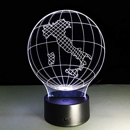 3D Lampe Licht Nachtlicht Illusion Italien 7 Farben Kinder Led Touch Fernbedienung Tisch Schreibtisch Lichter Farbwechsel Usb Geburtstagsgeschenke Optische Dekoration Lampen