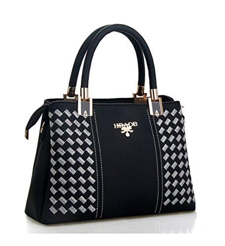 Maibaoma Pu New Fashion Borse Donna, Hobo Bags, Tracolle, Borsette, Secchielli, Borse Moda, Velour, Camoscio, Camoscio, Borsa Nero Bianco