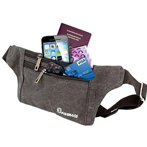 Oramics Sport elastische Bauchtasche - Ideales Sport- und Reise-Bauchtasche - Sichere Verstauung - Unauffälliges Tragen unter der Kleidung - Lauftasche -
