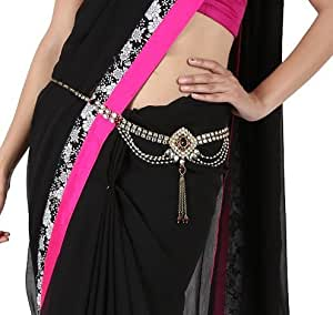 Kauberi Jewels Multicolor Copper Kundan Kamarbandh for Women