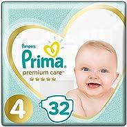 Prima Bebek Bezi Premium Care 4 Beden 32 Adet Maxi Ekonomi Paketi