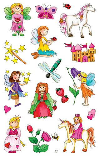 8 Kinder Sticker Feen 34 Aufkleber ()