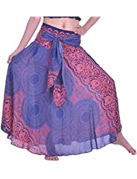 Lofbaz Mujeres Vestido Largo Bohemian Maxi Skirt Hippie Gypsy Boho