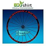 ECOSHIRT Aufkleber mit Aufschrift Bontrager Koveexxx, AM207 für Fahrradfelgen, rot