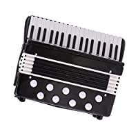 SaniMomo 1:12 Scale Accordion In Case Musical Instrument Doll Music Room Accessory