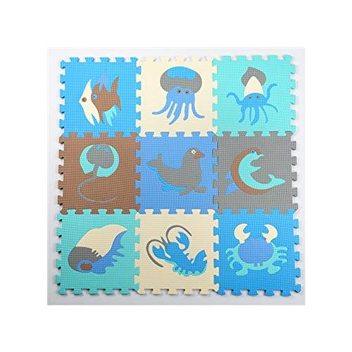 YAzNdom Tapis de Plancher de Mousse, Tapis d'exercice de Puzzle avec des tuiles d'imbrication de Mousse d'EVA, Taille dans 30 * 30 * 1.0cm, (Color : A)