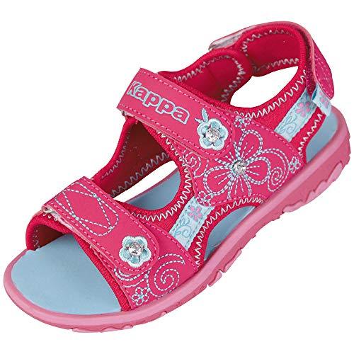 Kappa Mädchen Bloomy K Knöchelriemchen Sandalen, Pink (2266 Pink/Tuerkis), 30 EU