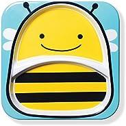 Skip Hop Zoo Divided Melamine Plate-Bee (Yellow/Blue)