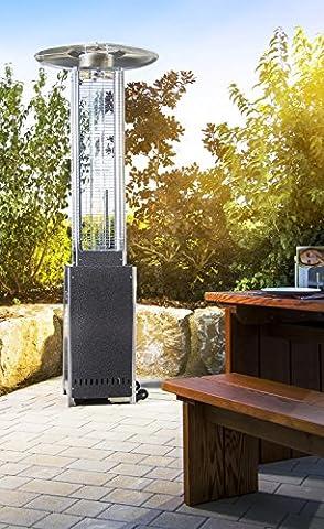 Heizpilz Heizstrahler Terrassenheizer Terrassenstrahler Gasheizer 'Optical Pro' SCHWARZ GRAPHIT (Gastherme Kaufen)