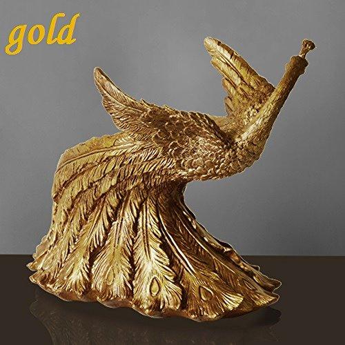 EGC Europäische Pfau Form Weinregal, Kreative Wohnzimmer Restaurant Bar Theke Möbel Handwerk, Diy,Gold-