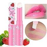 Transwen Lippenstift, Magische Erdbeertemperatur-ändernde Farblippenstift-Feuchtigkeitscreme-Balsam wasserdicht Lippenstift Make up Lipgloss (Rosa)