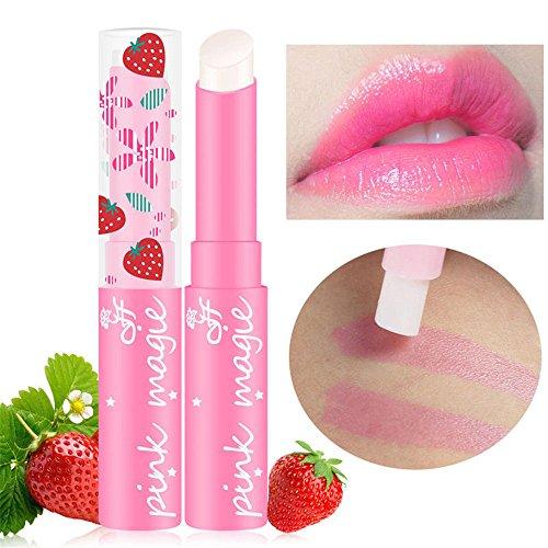 LeeyღღღLippenstift Lange haltbare Farbwechsel Erdbeere Geschmack Lipgloss Lippe Gloss Lipstick...