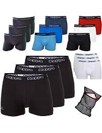 Kappa Herren Unterhose Ziatec Edition - Boxhershorts S-5XL mit praktischem Wäschenetz 3er, 6er und 9er Packs - Männer-Unterwäsche