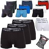 Kappa Herren-Boxershorts Black-Ziatec-Edition 3er - 6er oder 9er - Unterhosen Größe S - 4XL- Unterhosen - Unterwäsche für Männer, Farbe:3 x schwarz / schwarz, Größe:4XL
