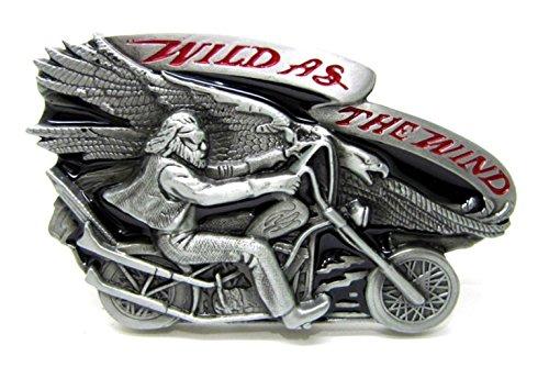 Wild wie der Wind Chopper Motorrad Biker Rider Metall Gürtelschnalle - Honda Gürtel Schnalle