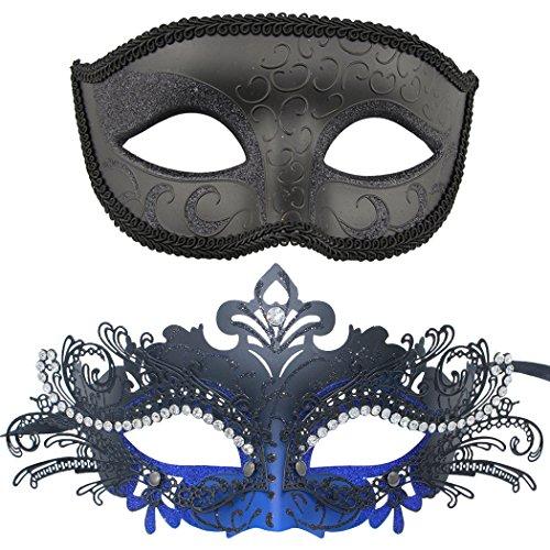 Paar venezianischen Maskerade Maske gesetzt Luxus-Stil Prinzessin Party Maske