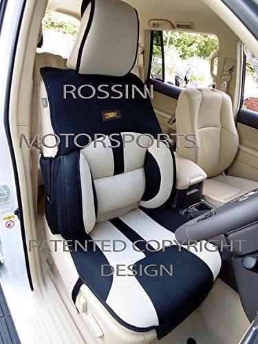I-che si adatta a Saab 93auto, supporto posteriore per cuscini, BO4ROSSINI maglia sport beige/nero
