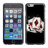 Graphic4You Póker cartas fichas Carcasa Funda Rigida para Apple iPhone 7