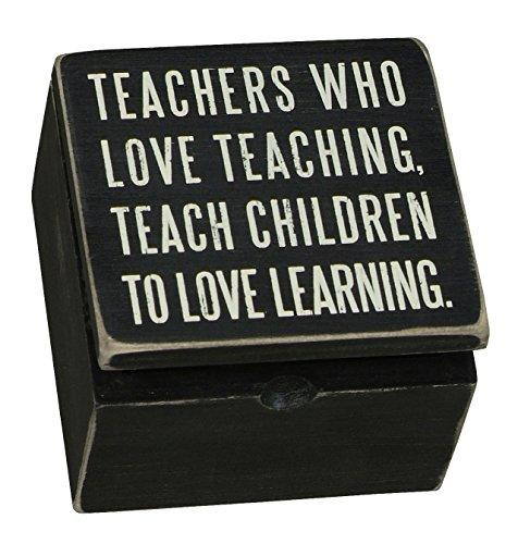 Primitives by Kathy 17934 - Caja de madera con mensaje para los profesores