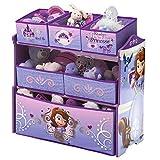 Spielzeugregal - Standregal - Aufbewahrungsregal 6 Boxen mit Motivauswahl (Sofia)