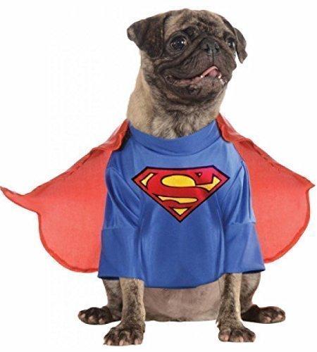 Animal Haustier Hund oder Cat Superman Kleidung Superheld Weihnachtsgeschenk Halloween Party Kostüm Kleid Outfit XS-XL - S