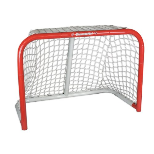 FRANKLIN - Mini Streethockey-Tor NHL Steel Goal I Outdoor-Tor I Mini Stahlrahmen-Tor I Garten Puck-Tor I Tor für Hockeybälle & Pucks I Streethockey-Training I Indoor-Tor I Lacrosse I Feldhockey - Rot