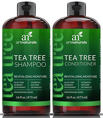 ArtNaturals Teebaumöl Shampoo Conditioner Set - (2 x 16 Fl Oz / 472 ml) - mit Aloe Vera & Pflanzlichen Extrakten - Gegen Schuppen, Juckreiz, Trockene Kopfhaut und Fettiges Haar - Fördert Haarwuchs  -
