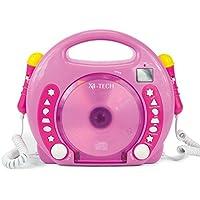 701481 - Karaoke CD Player MP3 2 Mikros Mädchen, rosa