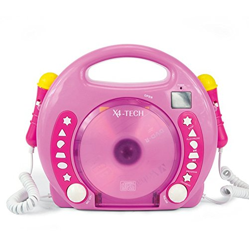 701481 – CD MP3 Lecteur Karaoké 2 micros fille rose