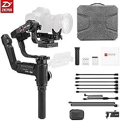 ZHIYUN Crane 3 Lab Gimbal Stabilisateur 3 Axes pour Appareils Photo Reflex/DSLR et Caméras Professionnelles de Poids Max 4.5kg, Compatible avec Canon,Panasonic,Sony,Nikon,Blackmagic 4K Caméscopes