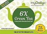myDaily 6X Green Tea with Higher Antioxidants for Weight Loss, Lemon Flavor