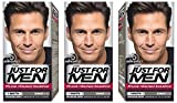 Just for Men - H55 - Haarfärbemittel, Pflege Tönungs Shampoo, Schwarz, 3er Pack
