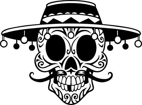 Ruixinshi Halloween Persönlichkeit Riesen Skeleton Kopf mit Kappe PVC Aufkleber Kinderzimmer Schlafzimmer Wohnzimmer Fenster Wand Dekoration, Wasserdicht Wandbild Kann entfernt Werden