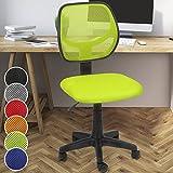 Miadomodo Bürodrehstuhl mit Netzbezug in 6 unterschiedliche Farben zur Auswahl: Schwarz/Grau/Blau/Grün/Rot/Orange (Grün)