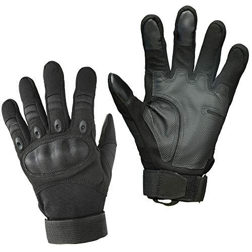 Smarcy Guantes Tácticos Militares para Hombres Dedo Completa para Airsoft Paintball del Ejército Ciclismo Escalada Guantes de Motocicleta para Conducir y Deportes Al Aire Libre, Color Negro,Talla XL