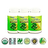 FEBICO Organic Broken Cell Wall Chlorella 500mg Tablets X 3bottles set X 3month supply- Naturland/ USDA Certified/ Pure/ High Quality- Wholefoods Superfood/ Chlorophyll/ Chlorella Growth Factor: Promote Detox/ Cleanse Health/ Healthy Metabolism/ Weight Lo