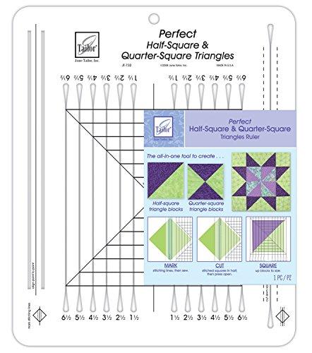 Juni Tailor 101/2x 121/2Zoll Perfekte 6,4und Quarter-Square Dreiecke Lineal -