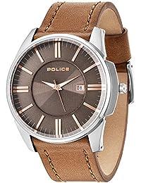 POLICE - P14384JS-11 - Montre Homme - Quartz - Analogique - Bracelet cuir Marron