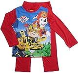 Paw Patrol Schlafanzug Jungen Pyjama Lang (Rot, 116)