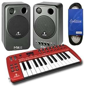 Claviers maîtres BEHRINGER PACK MIDI UMA25S + ACCESSOIRES + MS16 + CABLE RCA 25/49 Touches