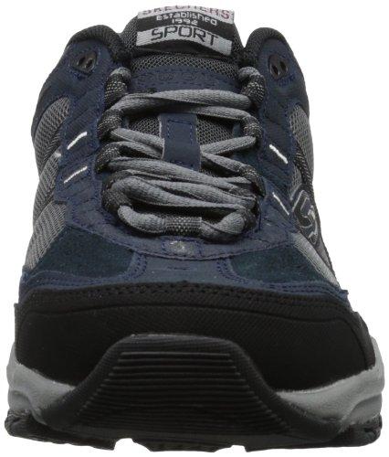 Skechers Sport Men's Vigor 2.0 Trait Memory Foam Sneaker, Taupe/Black, 10 M US Navy/Grey