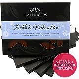 Hallingers 5er-Spar-Pack Vollmilch-Schokolade mit Nuss-Nougat (450g) - Fröhliche Weihnachten (Tafel-Karton) - zu Weihnachten