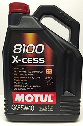 Motul 102870 8100 X-cess 5W40 Olio Motore 5 Lit