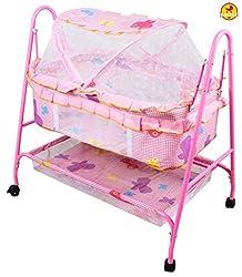 Baybee BabyNest Swing Cradle (Pink)